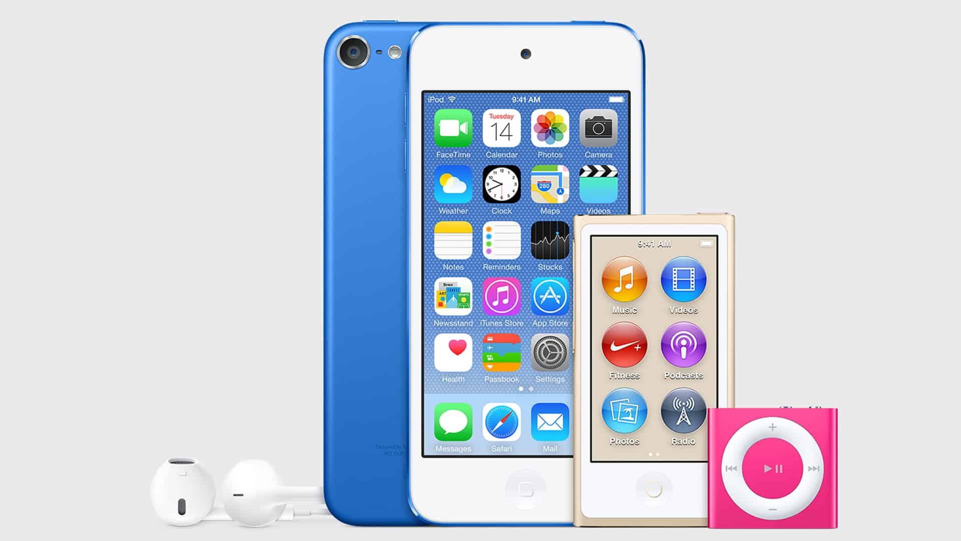 iPod Touch Nano Shuffle Color Variants