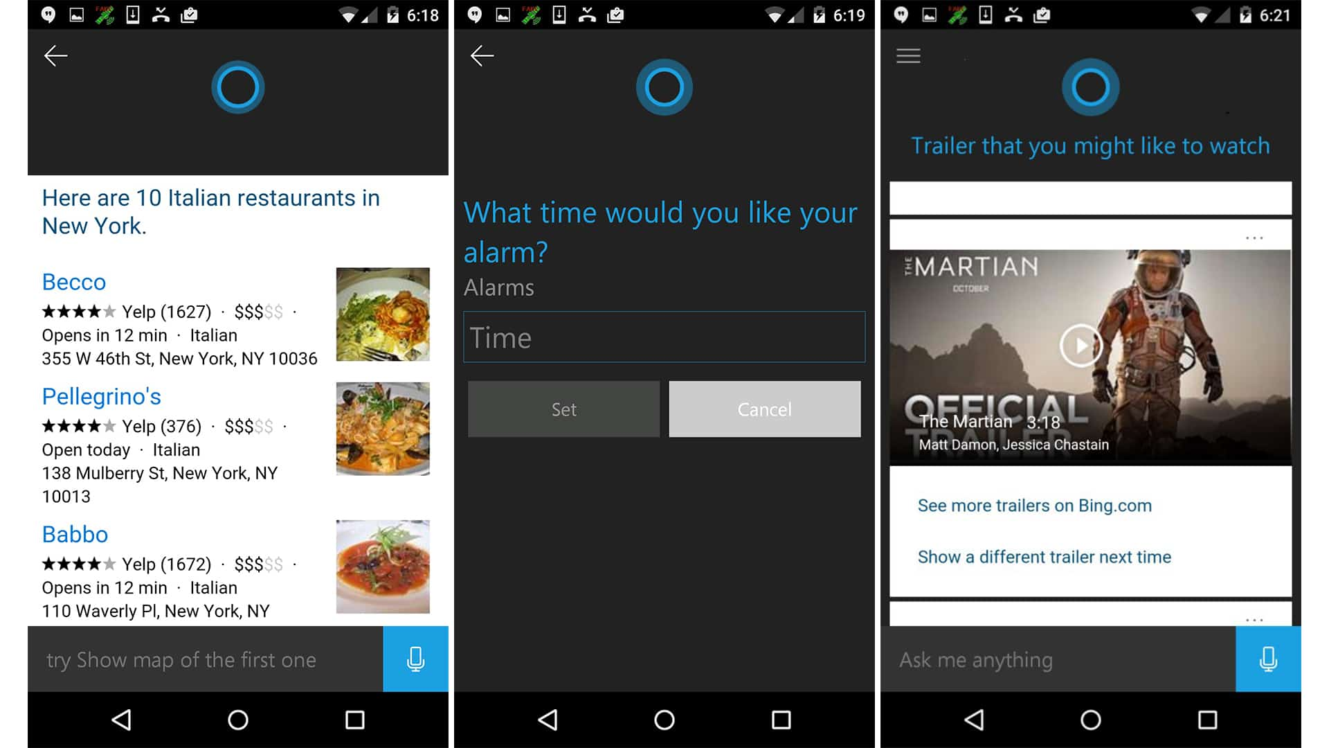 Micosoft Cortana Assistant on Android