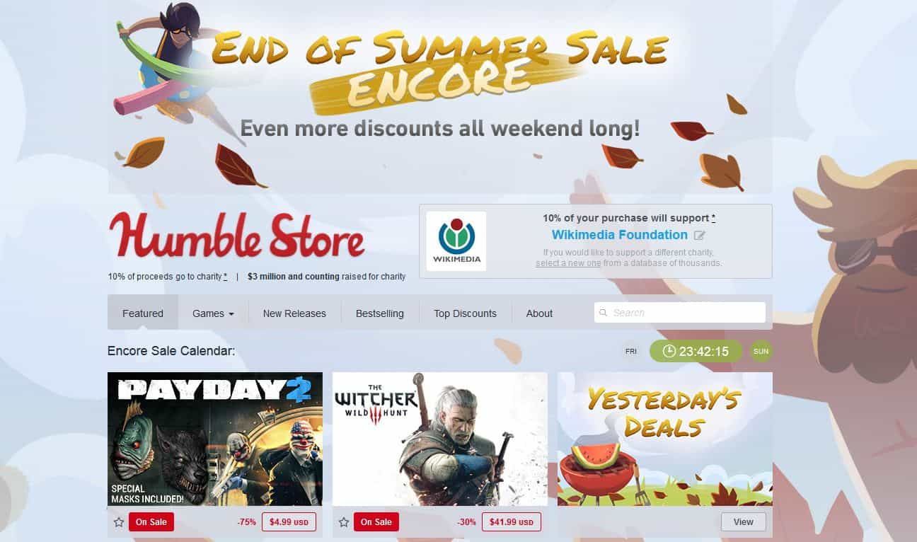 Humble Bundle Summer Encore Sale