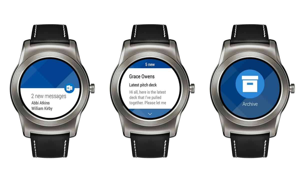 Outlook App on Android Wear