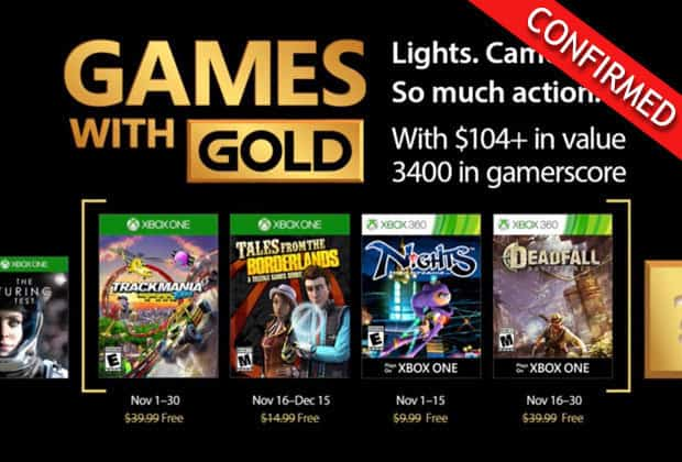 Xbox 360 Games With Gold : Xbox one and games with gold for november