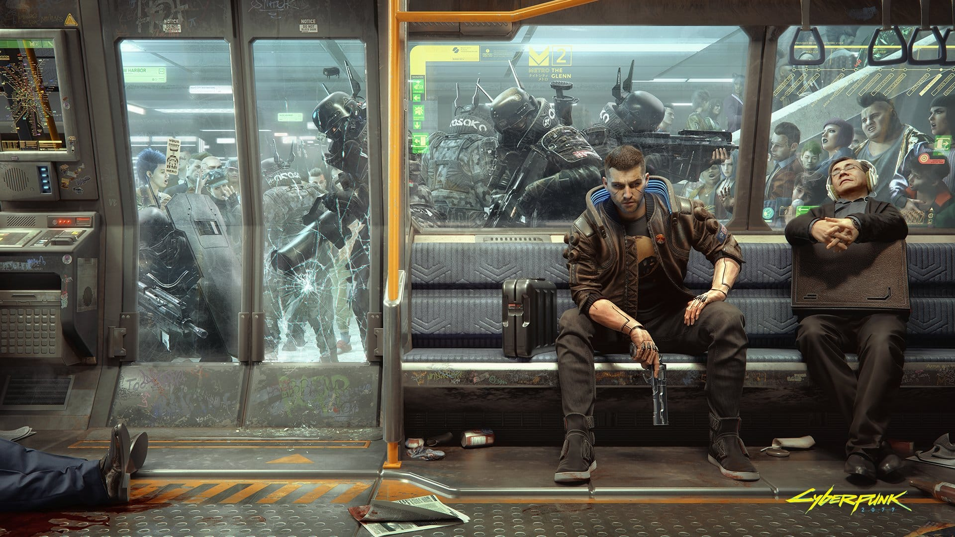 New Cyberpunk 2077 Wallpaper Shows How Metro Commuting Works Gadgetsngaming